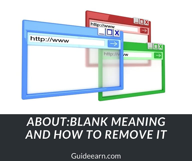 aboutblank Meaning and How To Remove It