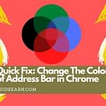 Quick Fix Change The Color of Address Bar in Chrome