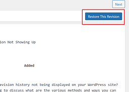 How to use Post Revision and Undo the Changes in WordPress