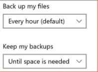 Delete Backup Files in Windows 10