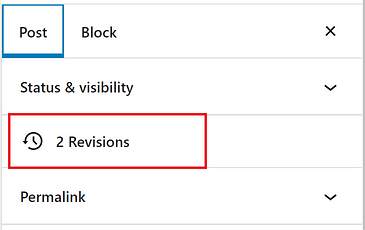 WordPress Revisions Not Showing Up