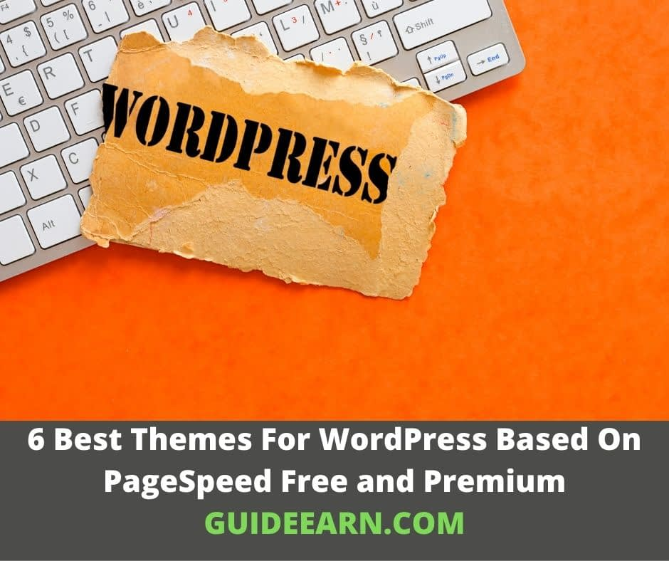 6 Best Themes For WordPress Based On PageSpeed Free and Premium