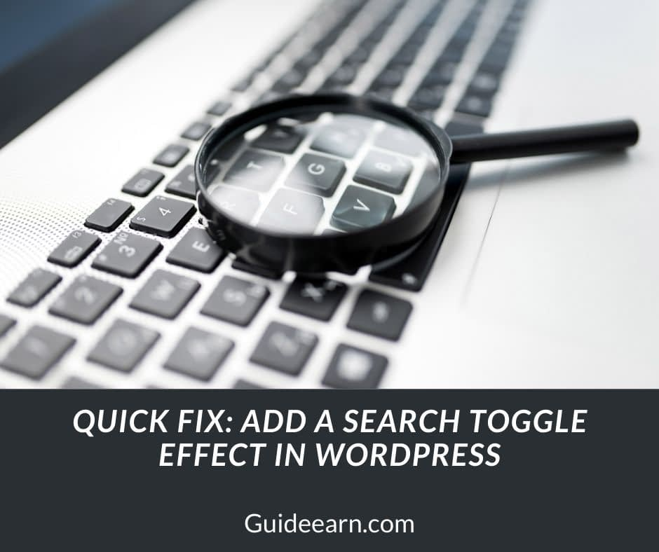 Quick Fix Add A Search Toggle Effect in WordPress