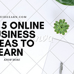TOP 5 ONLINE BUSINESS IDEAS TO EARN