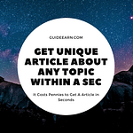 Get Unique Article About Any Topic Articoolo Review